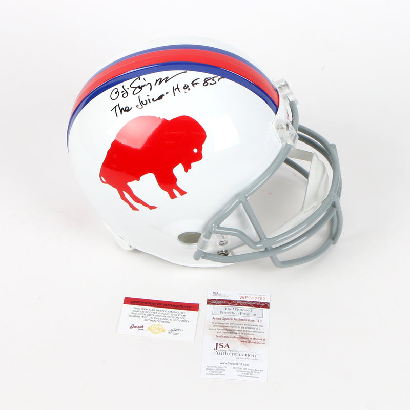 OJ Simpson Signed Buffalo Bills Throwback Full Size Helmet Inscribed