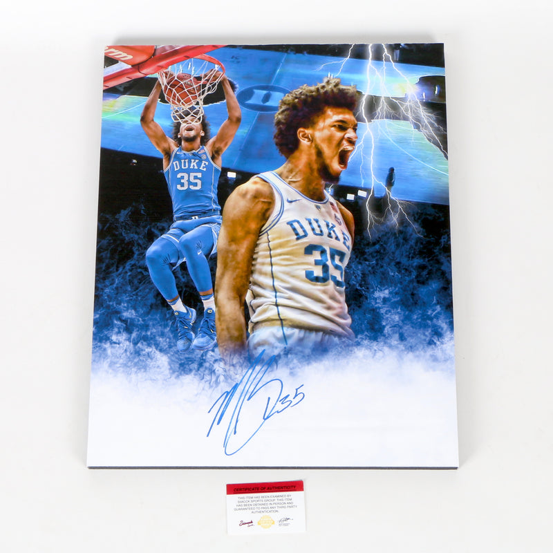 Marvin Bagley Signed 16x20 Canvas Duke Blue Devils