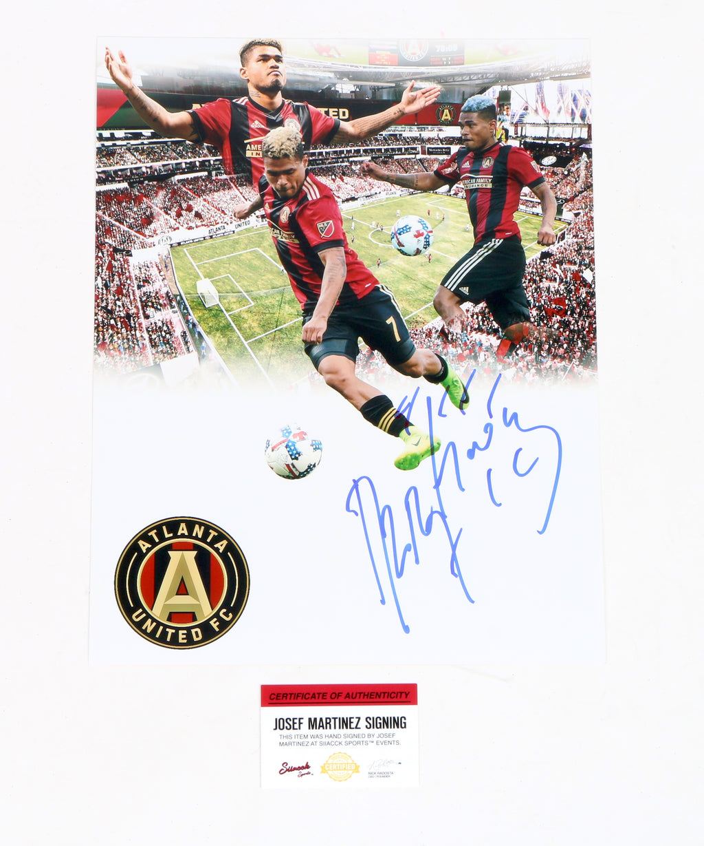 Josef Martinez signed 11x14 Atlanta United FC