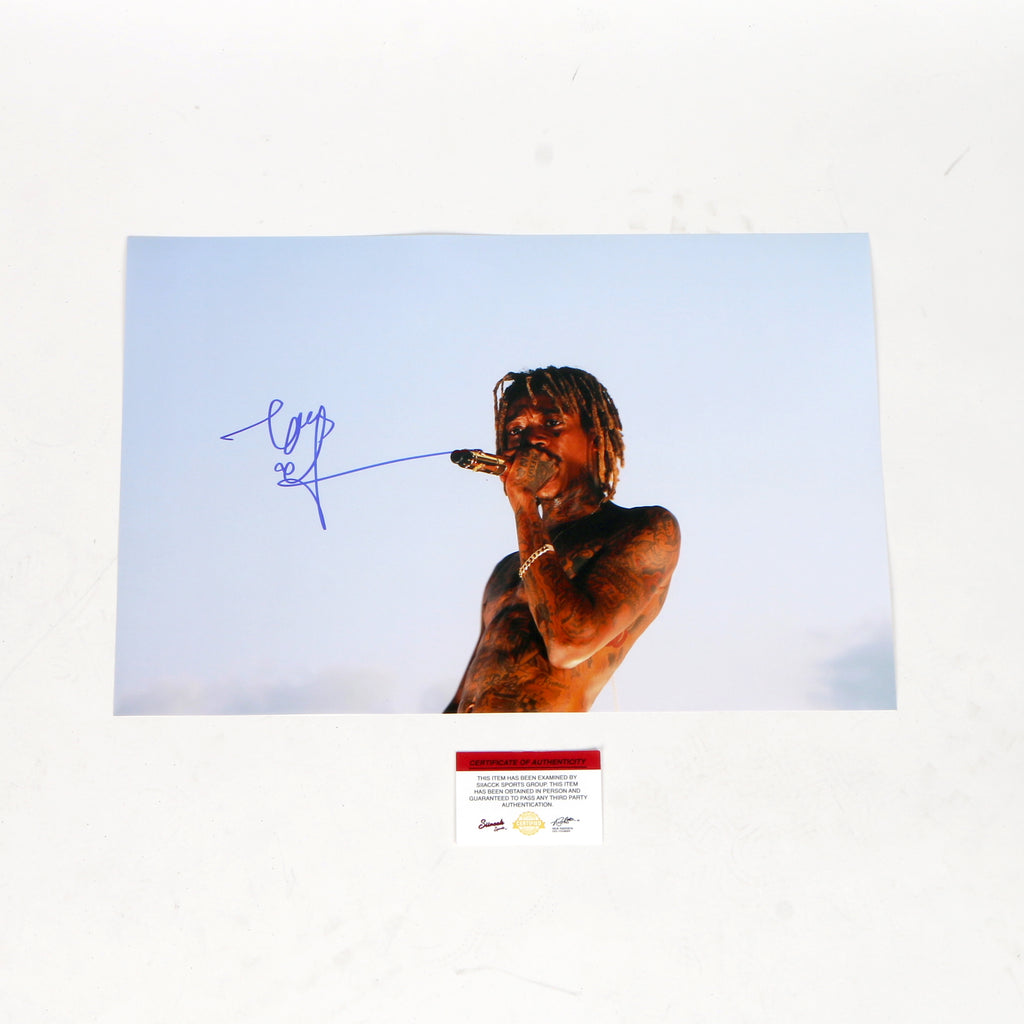 Wiz Khalifa Signed 12x18 Photo