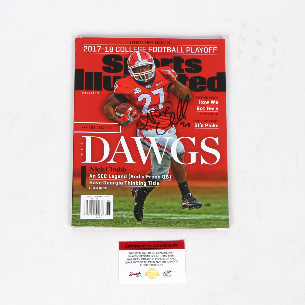 watch 3b10f 0801c Nick Chubb Signed Sports Illustrated Cleveland Browns