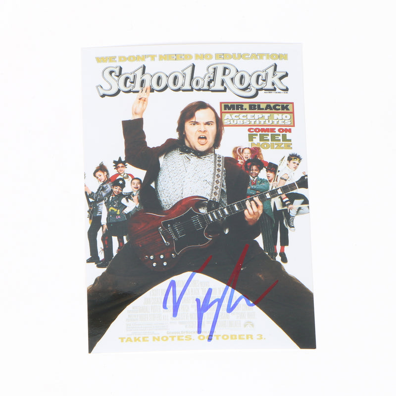 Jack Black 4x6 Signed School Of Rock Photo