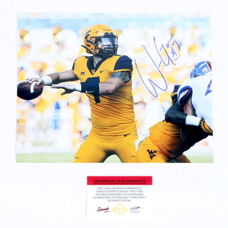 Will Grier Signed 8x10 Photo West Virginia Mountaineers