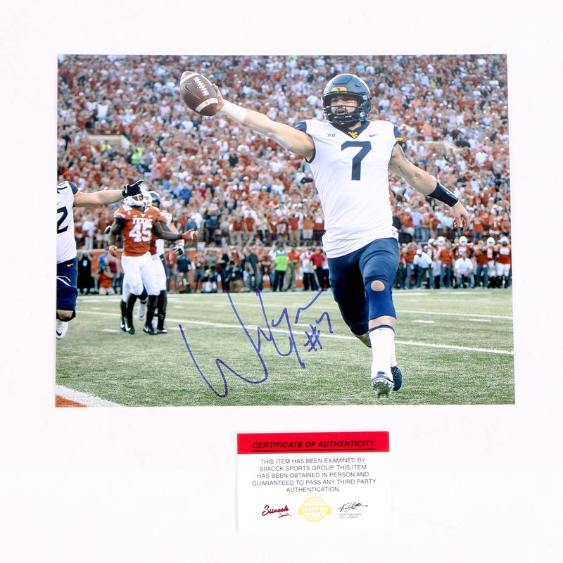 Will Grier Signed 8x10 Photo West Virginia Mountaineers Touchdown