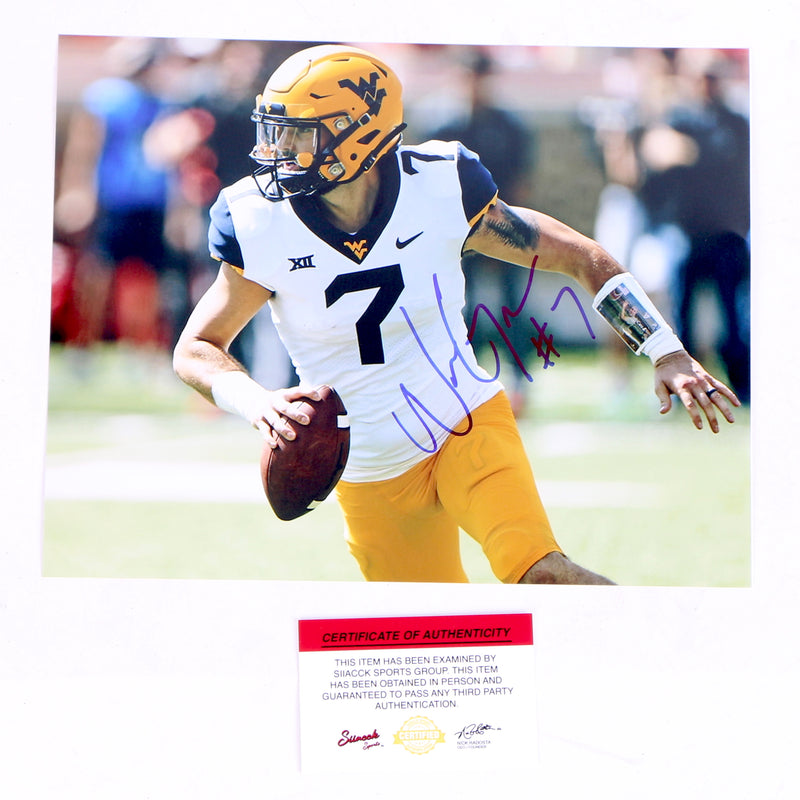 Will Grier Signed 8x10 Photo West Virginia Mountaineers Scrambling