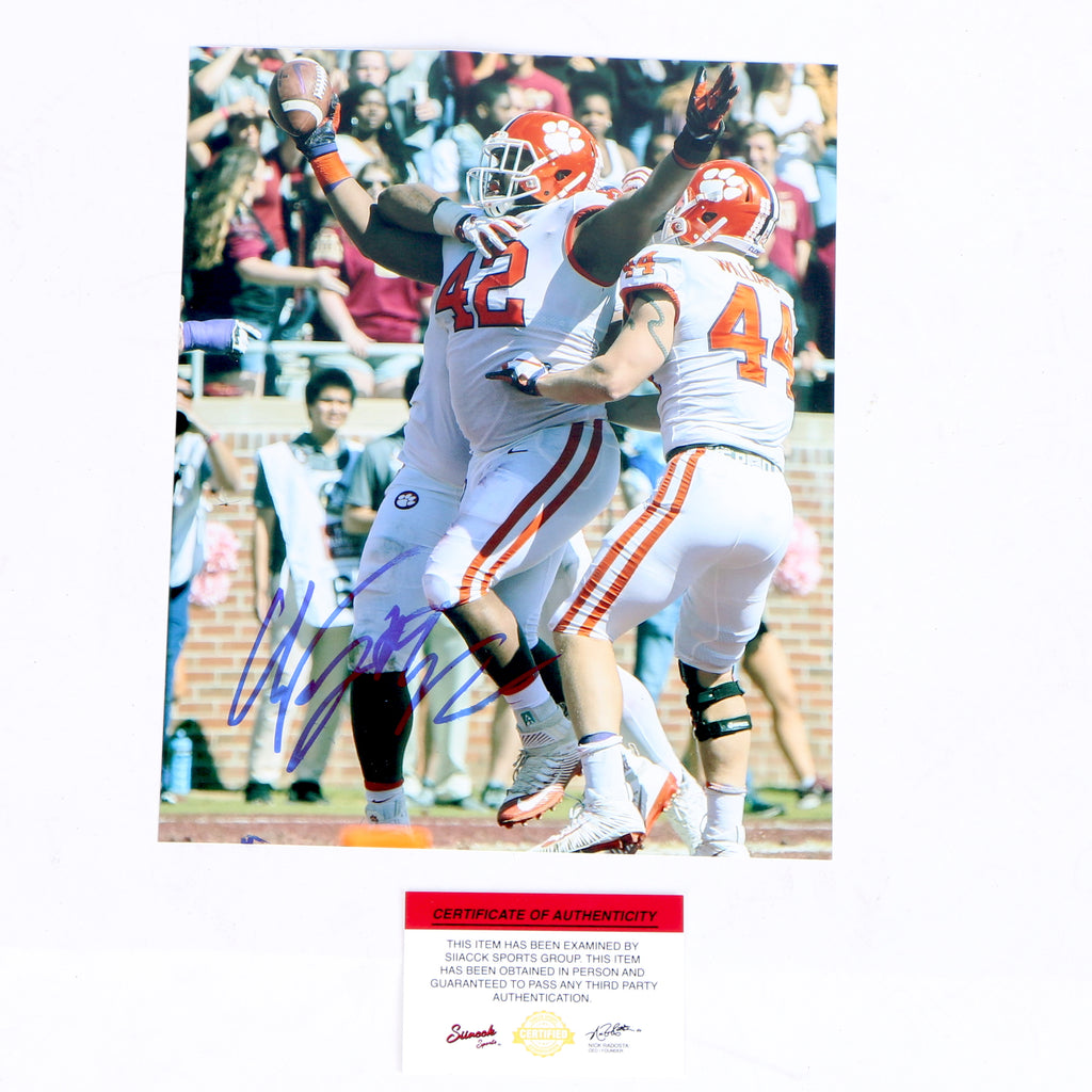 Christian Wilkins Signed 8x10 Photo Clemson Tigers Celebrating