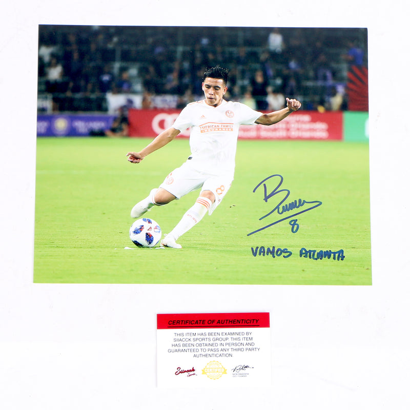 Ezequiel Barco Signed 8x10 Atlanta Kicking Ball Atlanta United FC Inscribed
