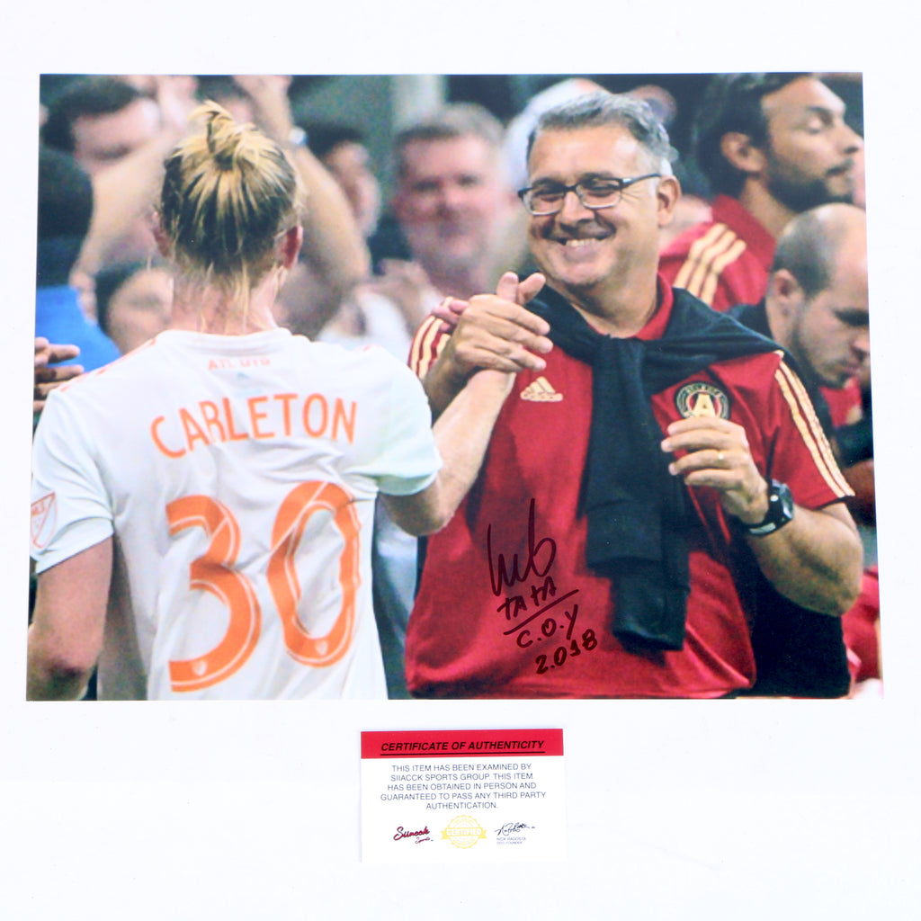Tata Martino Signed 11x14 Coaching COY 18 Atlanta United FC