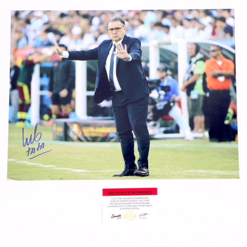Tata Martino Signed 11x14 Coaching Both Arms Up Atlanta United FC