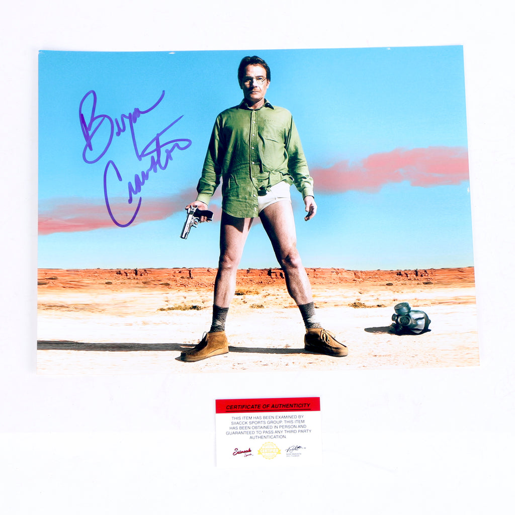 Breaking Bad Walter White Bryan Cranston Signed 11x14 Photo