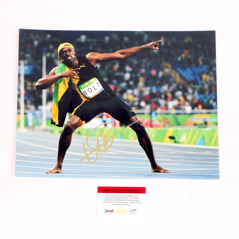 Usain Bolt Signed 11x14 Photo Olympics