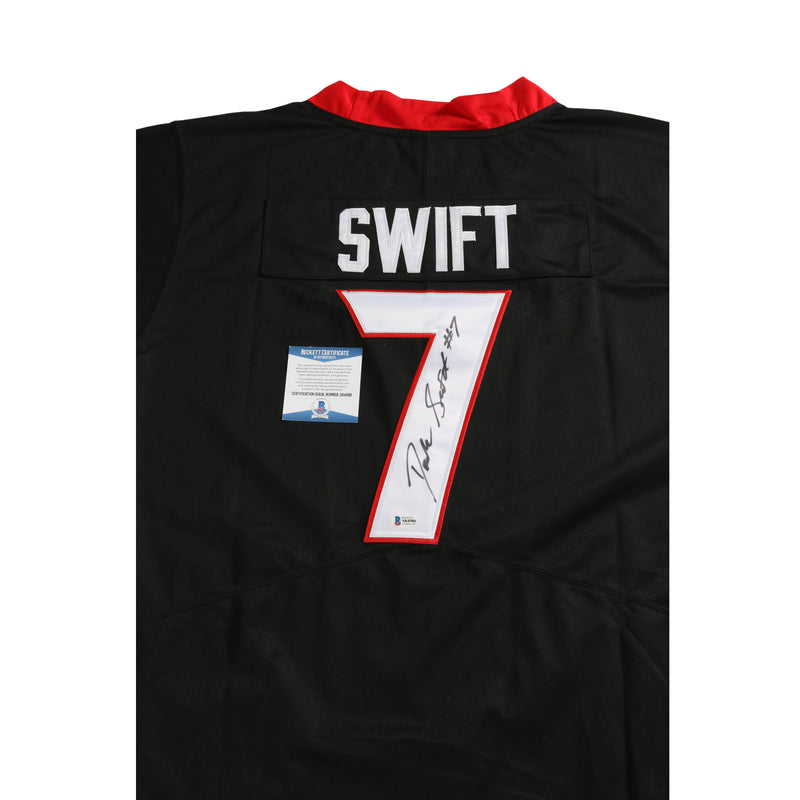 D'Andre Swift Signed Jersey Georgia Bulldogs Black