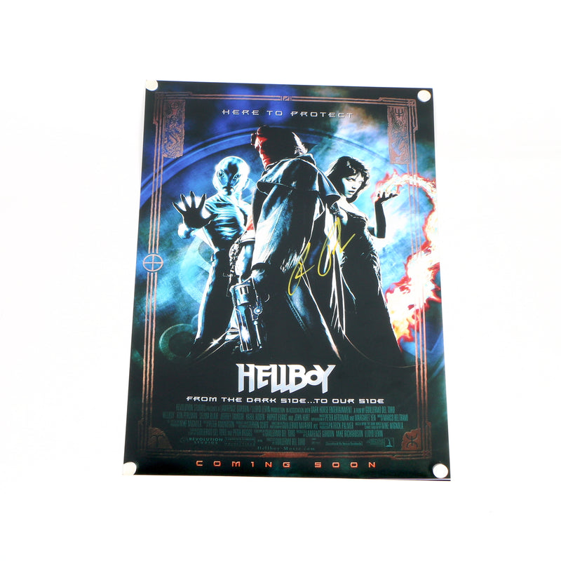 Ron Perlmen Hellboy Signed 12x18 Movie Poster