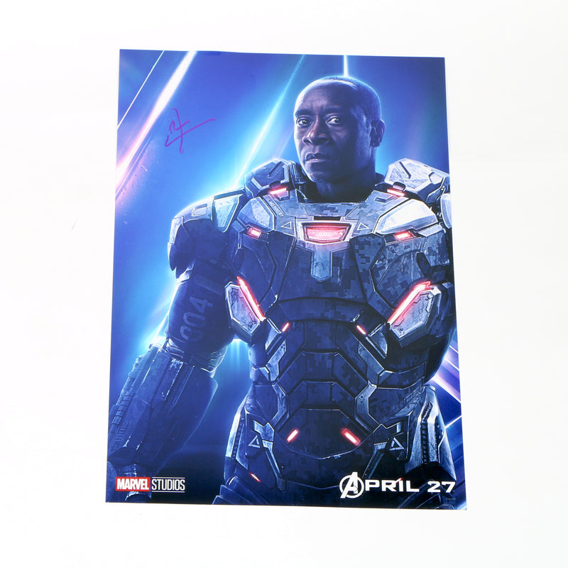 War Machine Don Cheadle Signed Avengers Movie Poster