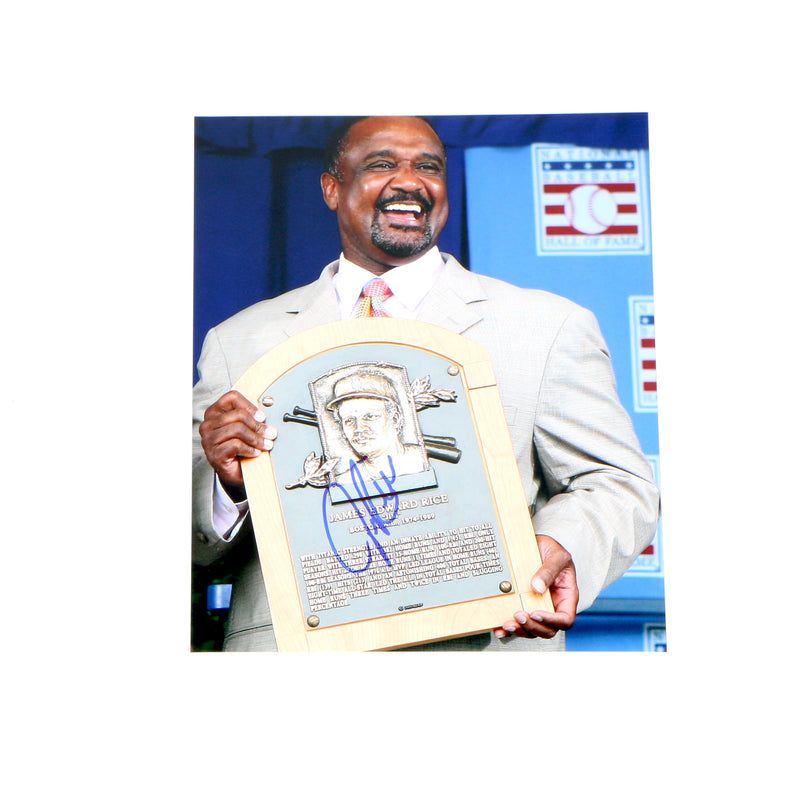 Jim Rice signed 8x10 Hall Of Fame Induction