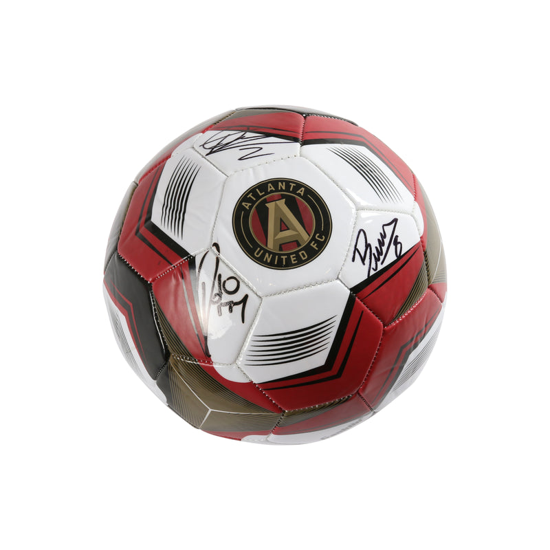 Ezequiel Barco Franco Escobar Pity Martinez Signed Soccer Ball Atlanta United FC