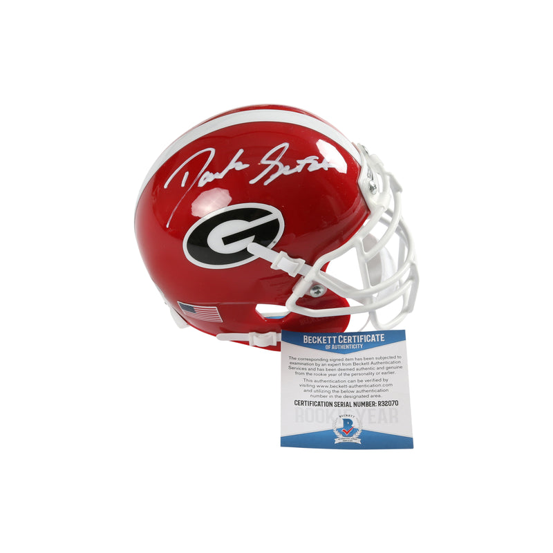 D'Andre Swift Signed Georgia Bulldogs Schutt Mini Helmet