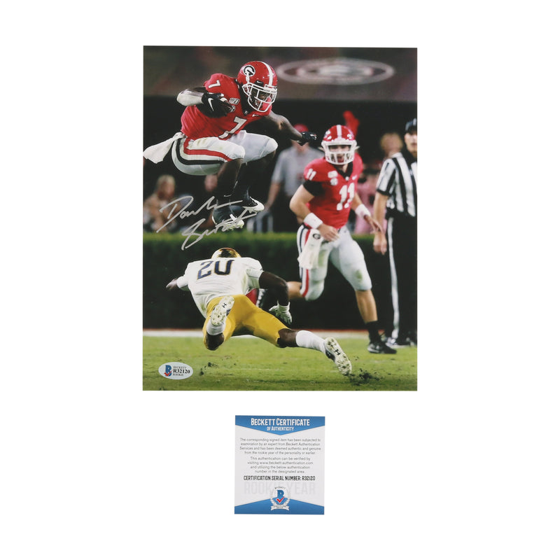 D'Andre Swift Signed 8x10 Photo Leap Georgia Bulldogs