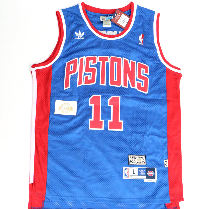 Isiah Thomas Signed Detroit Pistons Blue Jersey