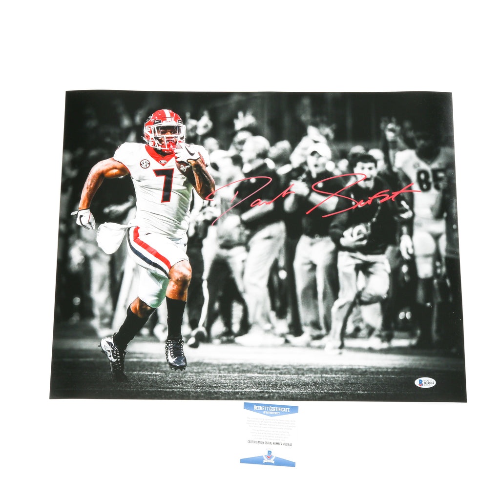 D'Andre Swift Signed 16x20 Photo Georgia Bulldogs