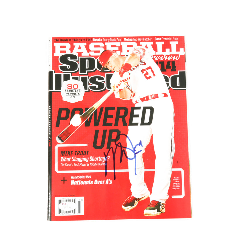 Mike Trout Signed Sports Illustrated Los Angeles Angels