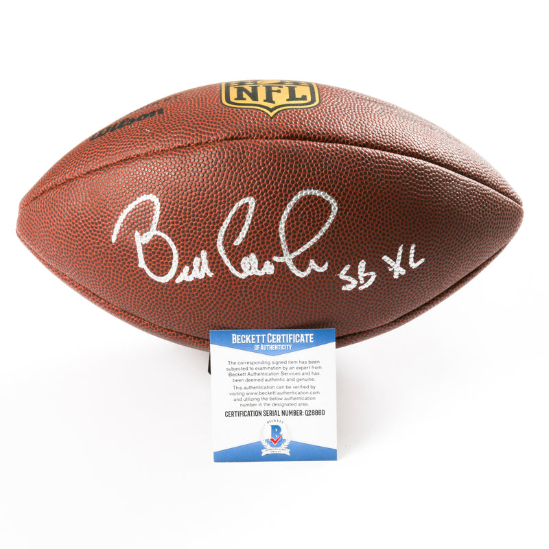 Bill Cowher Signed Football Pittsburgh Steelers Inscribed