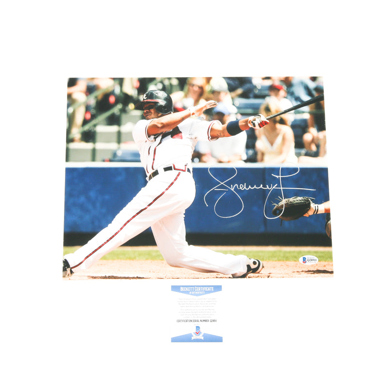 Andruw Jones Signed 11x14 Home Run Atlanta Braves