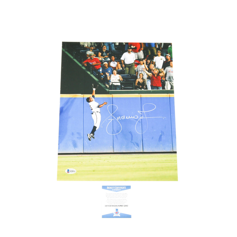 Andruw Jones Signed 11x14 Robbing Home Run