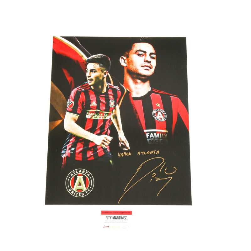 Pity Martinez Signed 16x20 Atlanta United Edit 2 Images Inscribed
