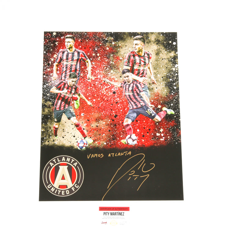 Pity Martinez Signed 16x20 Atlanta United Edit 4 Images Inscribed