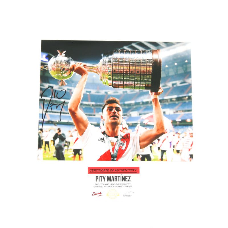 Pity Martinez Signed 8x10 River Plate Trophy Above Atlanta United