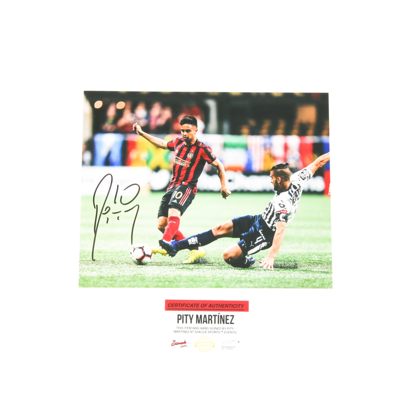 Pity Martinez Signed 8x10 Atlanta United Action Shot