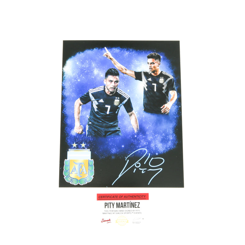 Pity Martinez Signed 8x10 Argentina National Atlanta United Edit Black
