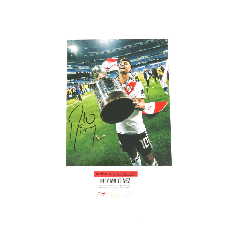 Pity Martinez Signed 8x10 River Plate Trophy Atlanta United