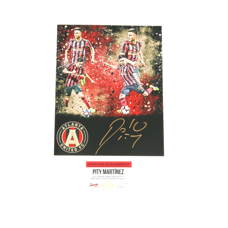 Pity Martinez Signed 8x10 Atlanta United Edit 4 Images