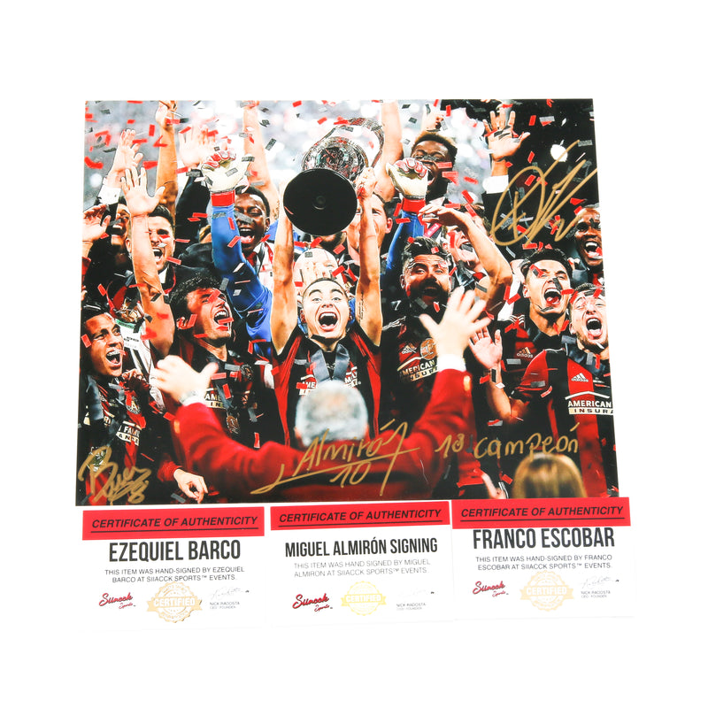 Miguel Almiron 8x10 MLS CUP CHAMPIONS Stage Atlanta United FC Inscribed
