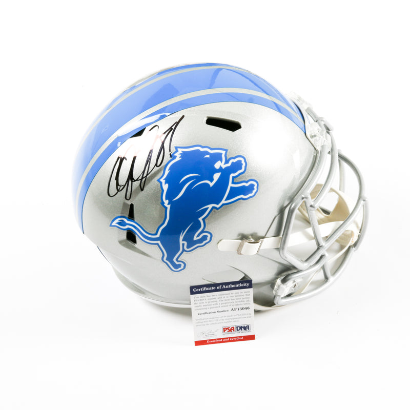 Calvin Johnson Signed Detroit Lions Full Size Helmet