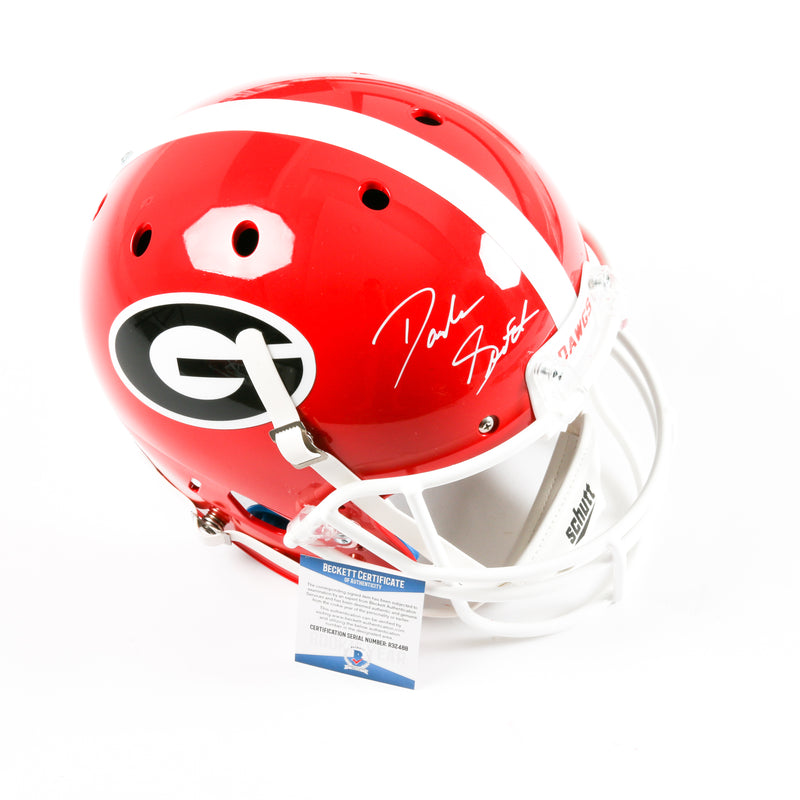 D'Andre Swift Signed Georgia Bulldogs Full Size Helmet Schutt