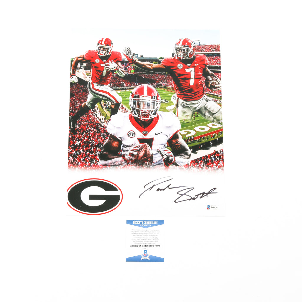 D'Andre Swift Signed 11x14 Photo Edit Georgia Bulldogs