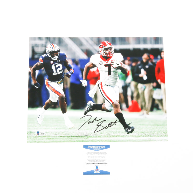D'Andre Swift Signed 11x14 SEC Run Georgia Bulldogs