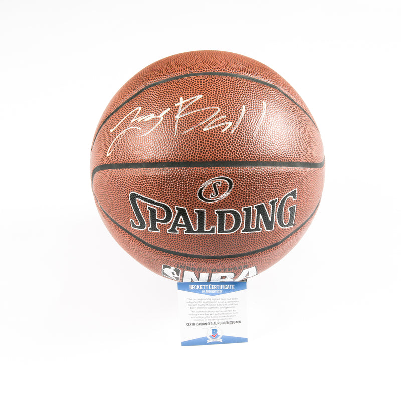 Lonzo Ball Signed Basketball Los Angeles Lakers