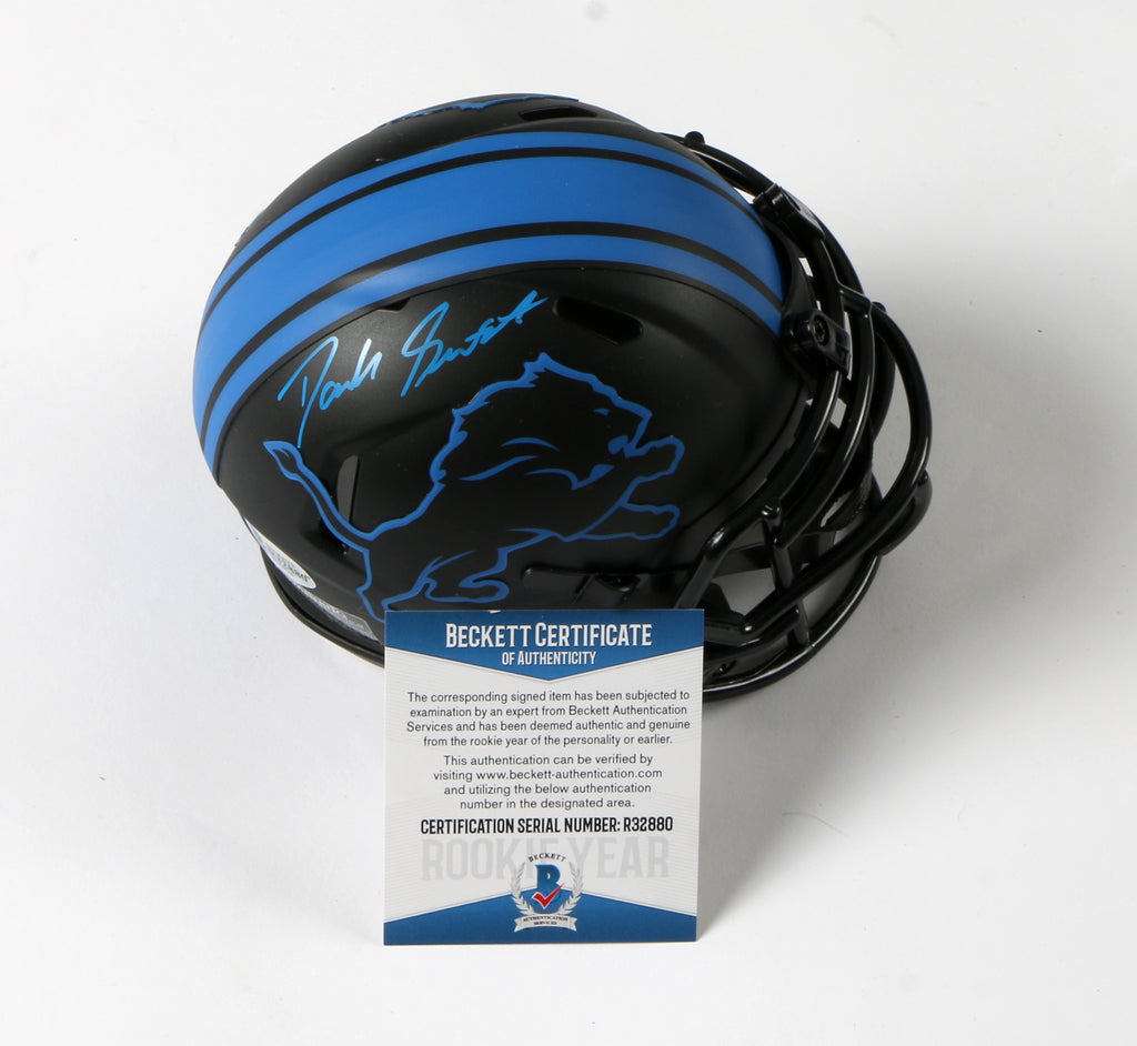 D'Andre Swift Signed Detroit Lions Eclipse Mini Helmet