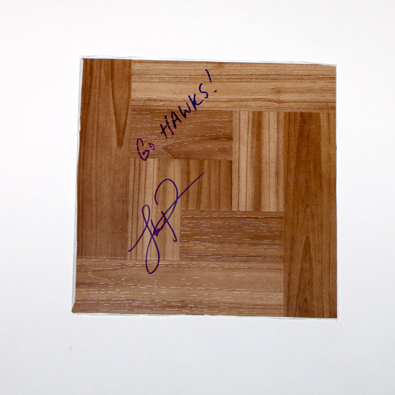 Lloyd Pierce Atlanta Hawks Head Coach Signed Floorboard Inscribed