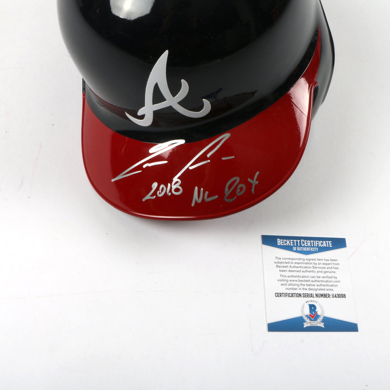 "Ronald Acuna Signed Helmet Atlanta Braves MLB ""2018 NL ROY""Inscribed"