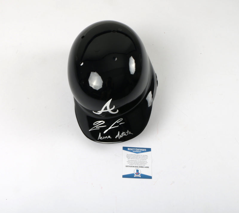 "Ronald Acuna Signed Helmet Atlanta Braves MLB ""Acuña Matata"" Inscribed"