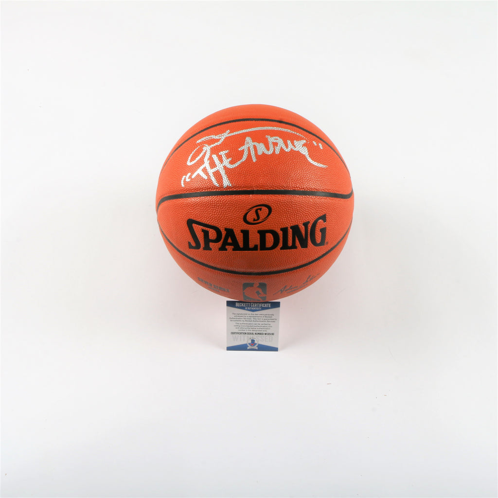 "Allen Iverson Signed Spalding Indoor/Outdoor Basketball ""The Answer"" Inscription"