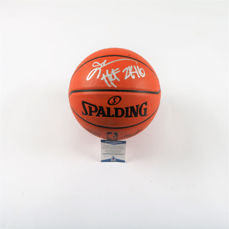 "Allen Iverson Signed Spalding Indoor/Outdoor Basketball ""HOF 2016"" Inscription"