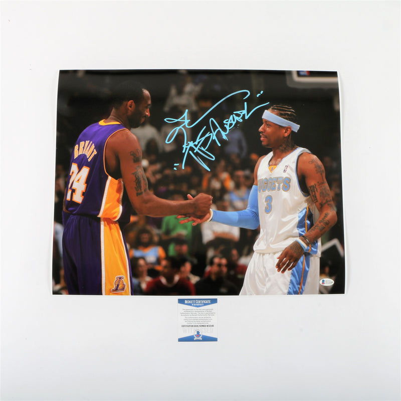 "Allen Iverson Signed 16""x20"" Photo Denver Nuggets with ""The Answer"" Inscription"