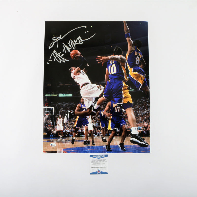 "Allen Iverson Signed 16""x20"" Photo Philadelphia 76ers with ""The Answer"" Inscription"