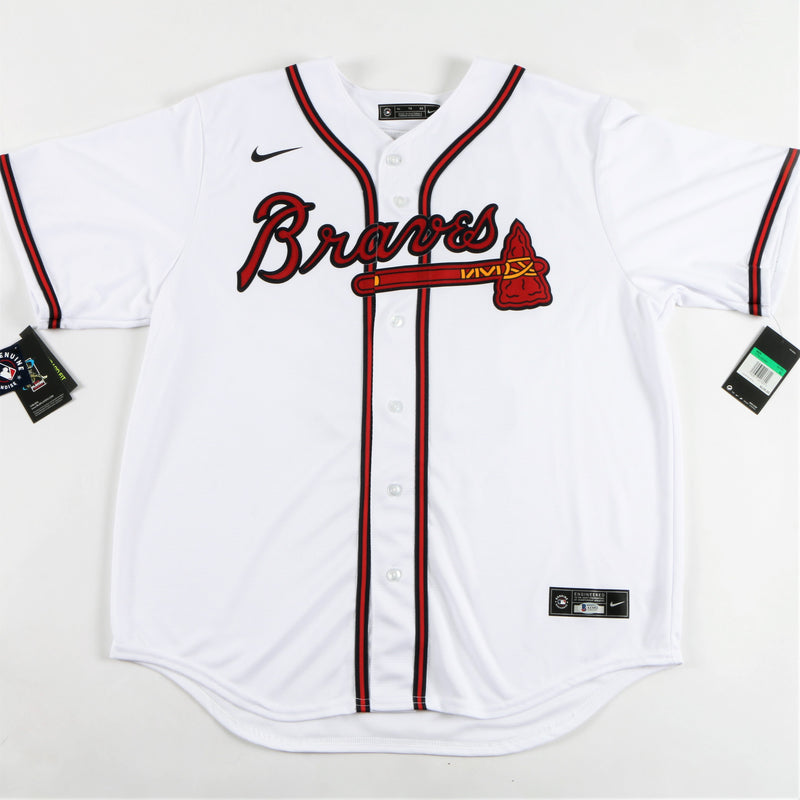 Ronald Acuna Jr. Signed Nike Atlanta Braves Jersey Multiple Inscriptions - White
